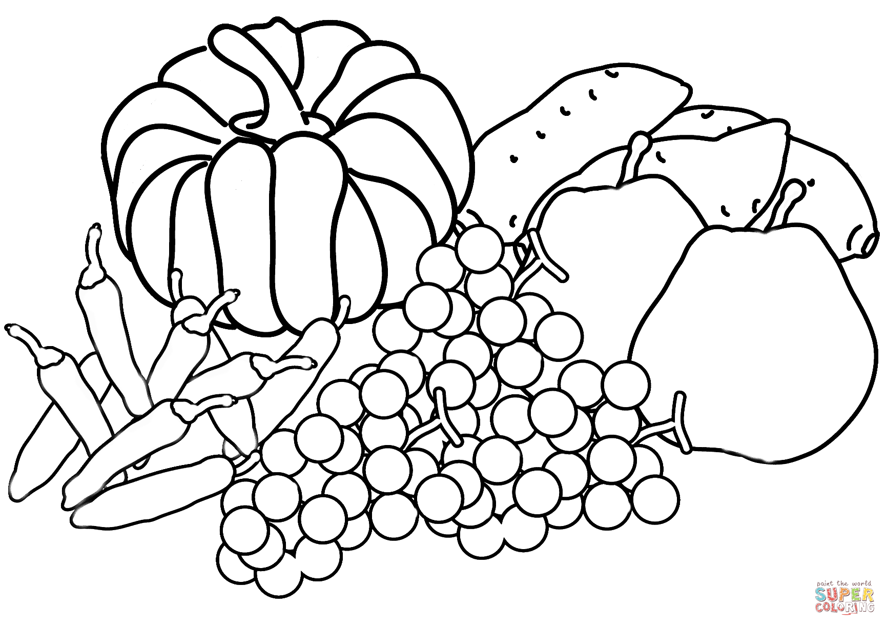 1729x1221 Harvest Coloring Pages