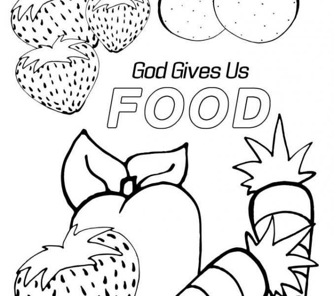 678x600 Harvest Colouring Pages Sunday School Coloring Page
