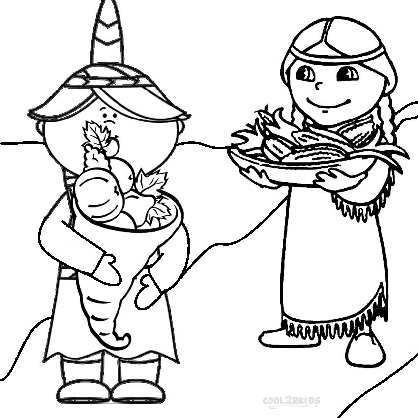 850x850 Printable Pilgrims Coloring Pages For Kids