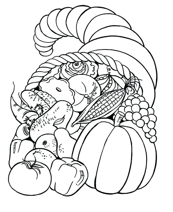 600x734 Fall Coloring Pages Printable Harvest Coloring Pages Fall Coloring