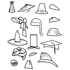230x230 Best Hat Coloring Pages Your Toddler Will Love To Color