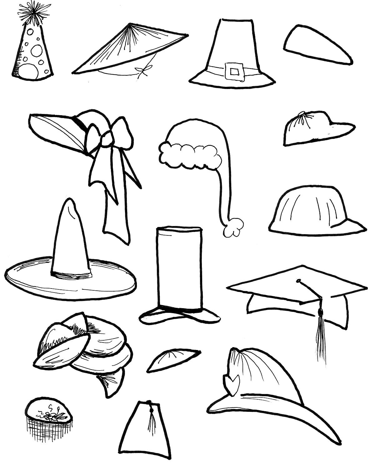 1200x1483 Free Printable Top Hat Coloring Page Of A Rallytv Org Within