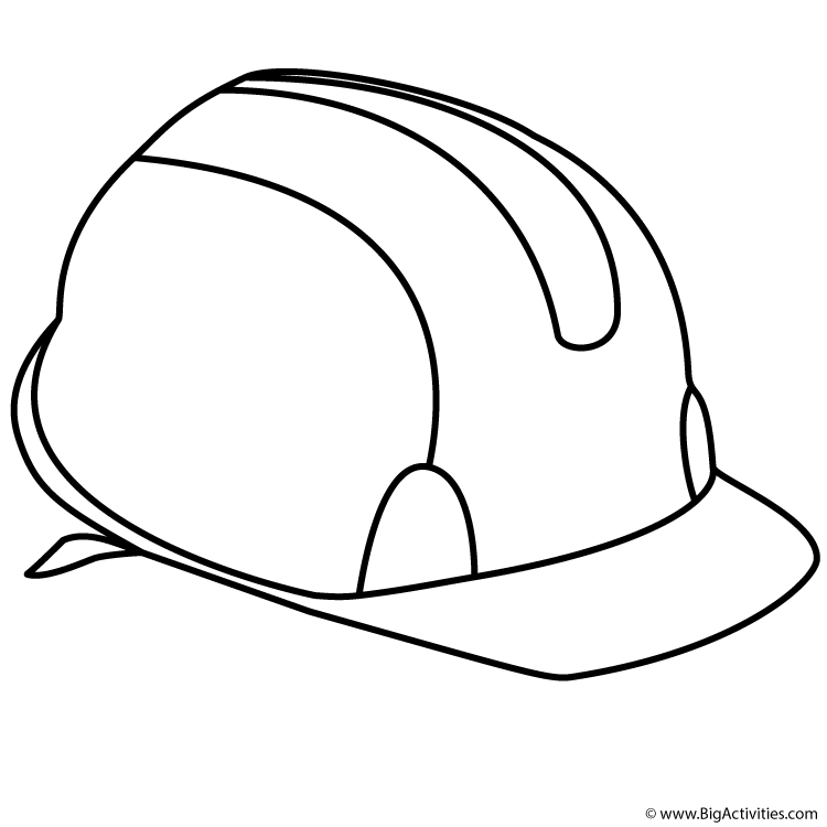750x750 Hat Coloring Pages Printable Hard Hat Coloring Page Labor Day