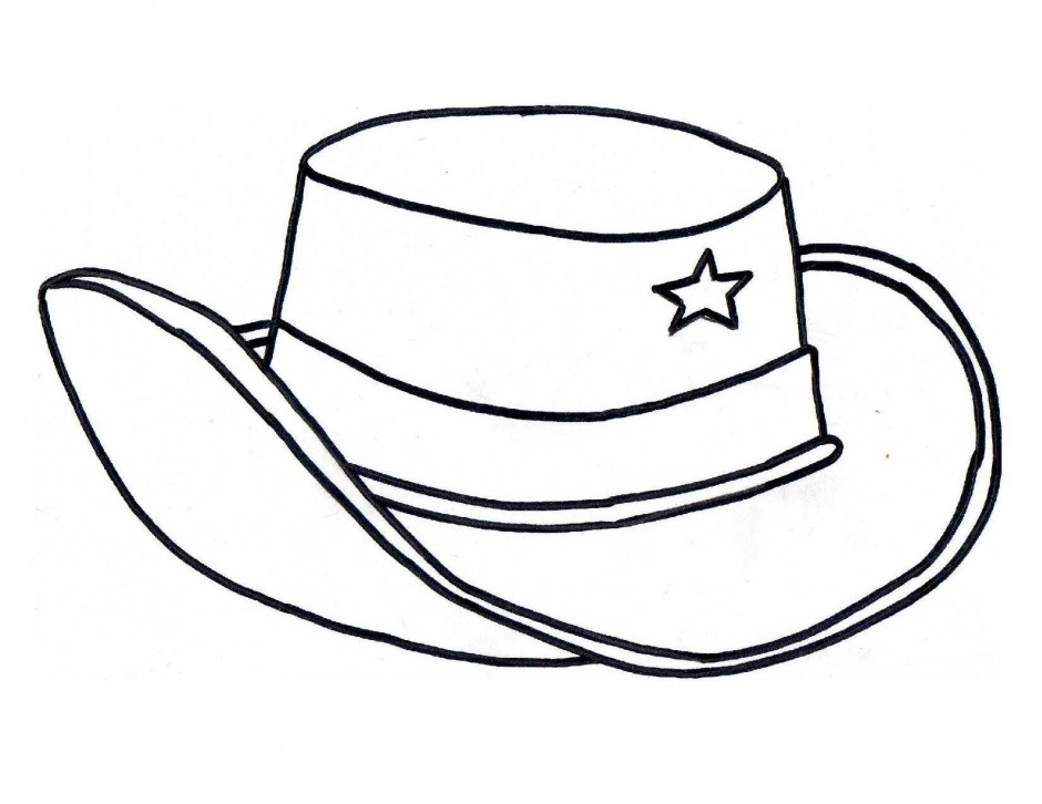 940x726 Hat Pictures To Color Cowboy Hat Coloring Free