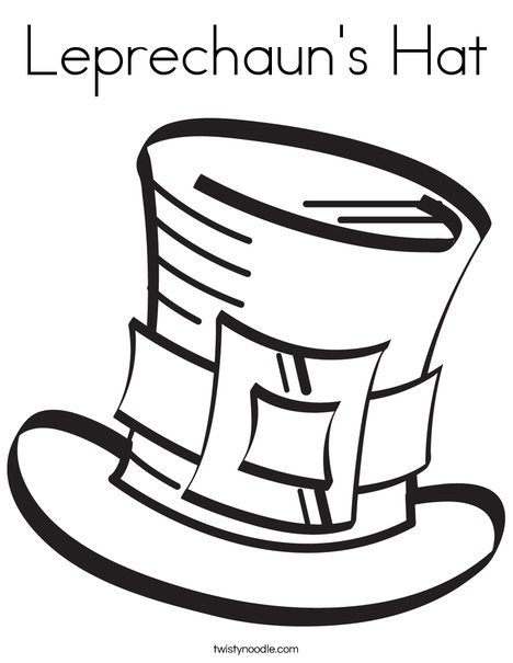 468x605 Leprechaun's Hat Coloring Page