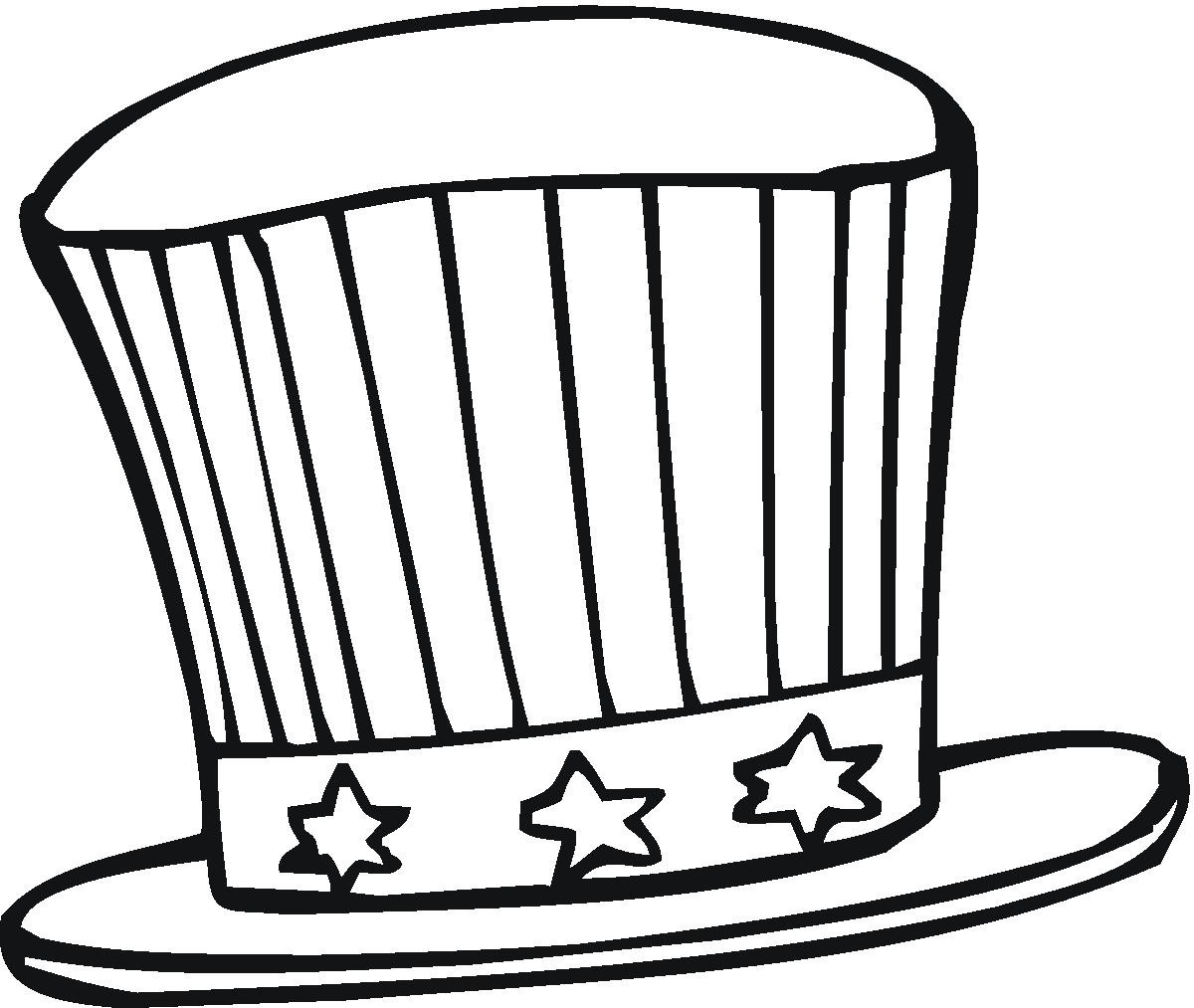 1200x1013 Printable Hat Coloring Pages Free Of Top Hats With Page Within
