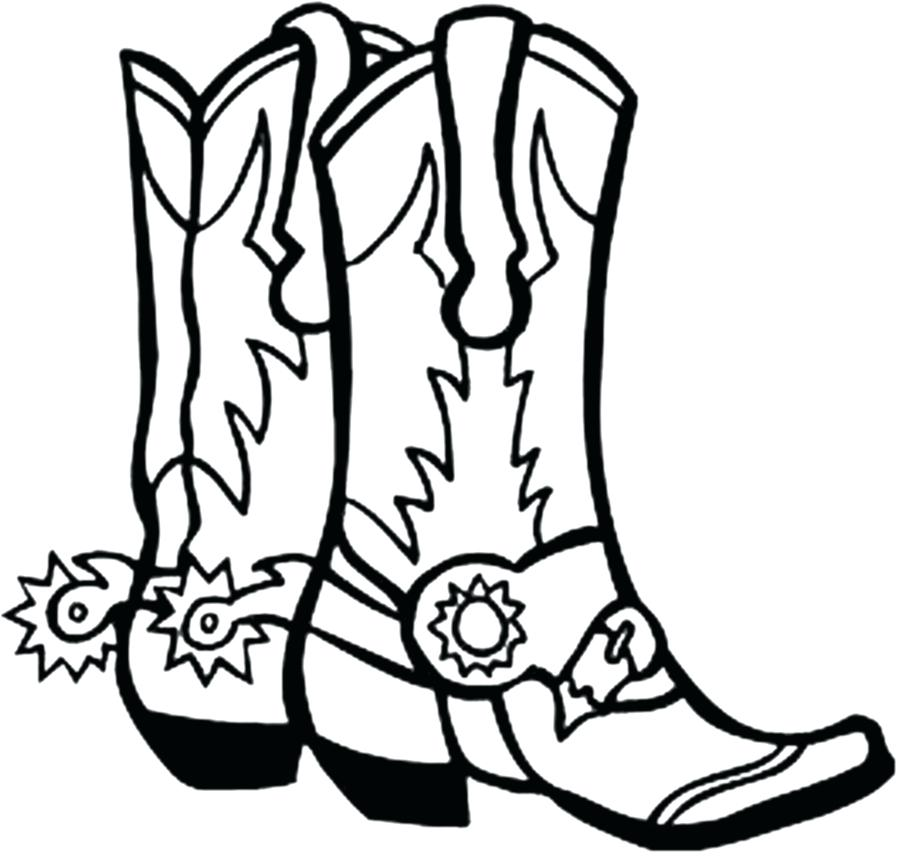 903x857 Cowboy Boots Coloring Pages To Print Cowboy Hat Coloring Pages