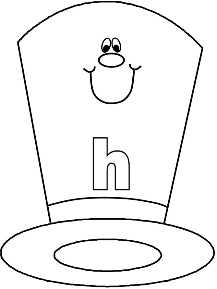 700x933 Coloring Pages Of Hats Top Hat Coloring Pages Free Coloring