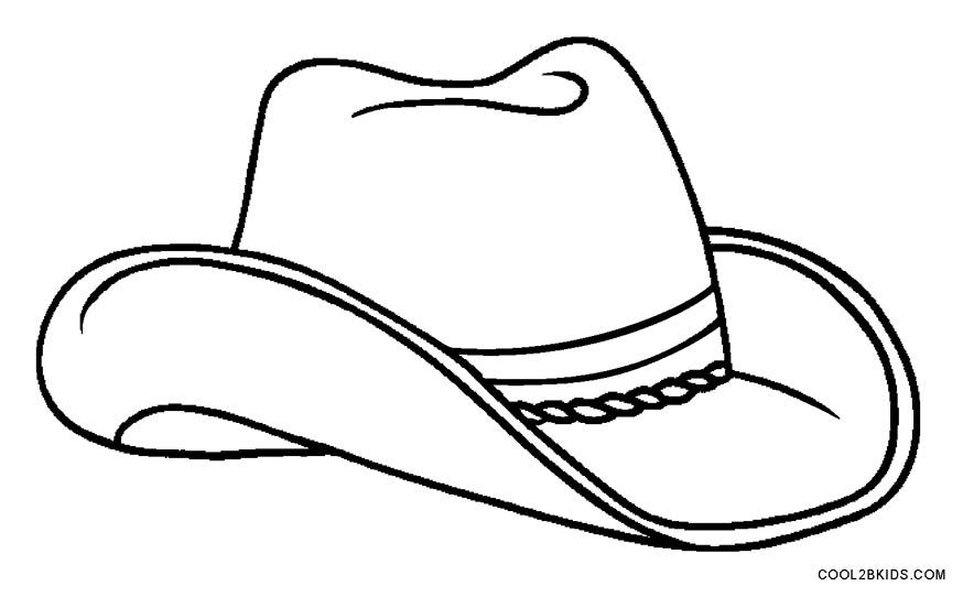 874x542 Cowboy Hat Coloring Page Printable Cowboy Coloring Pages For Kids