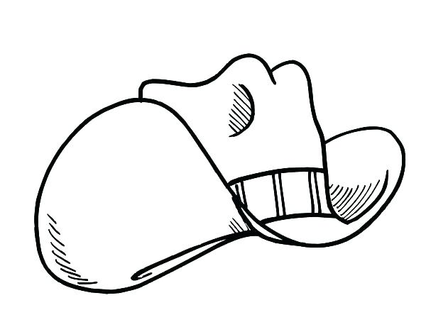 600x468 Cowboy Hat Coloring Pages Uncle Hat Coloring Page Sketch Of Cowboy