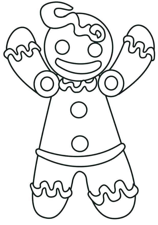 618x878 Gingerbread Man Coloring Page With Printable Gingerbread Man Free