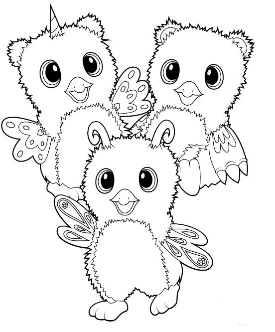 Hatchimal Coloring Pages At Getdrawings Free Download