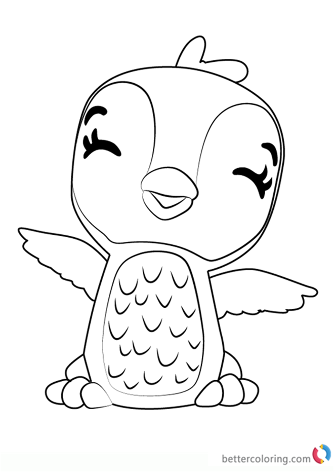 Hatchimals Coloring Page At GetDrawings Free Download
