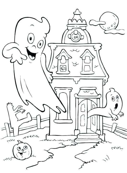 530x722 Monster House Coloring Pages Haunted House Coloring Pages For Kids