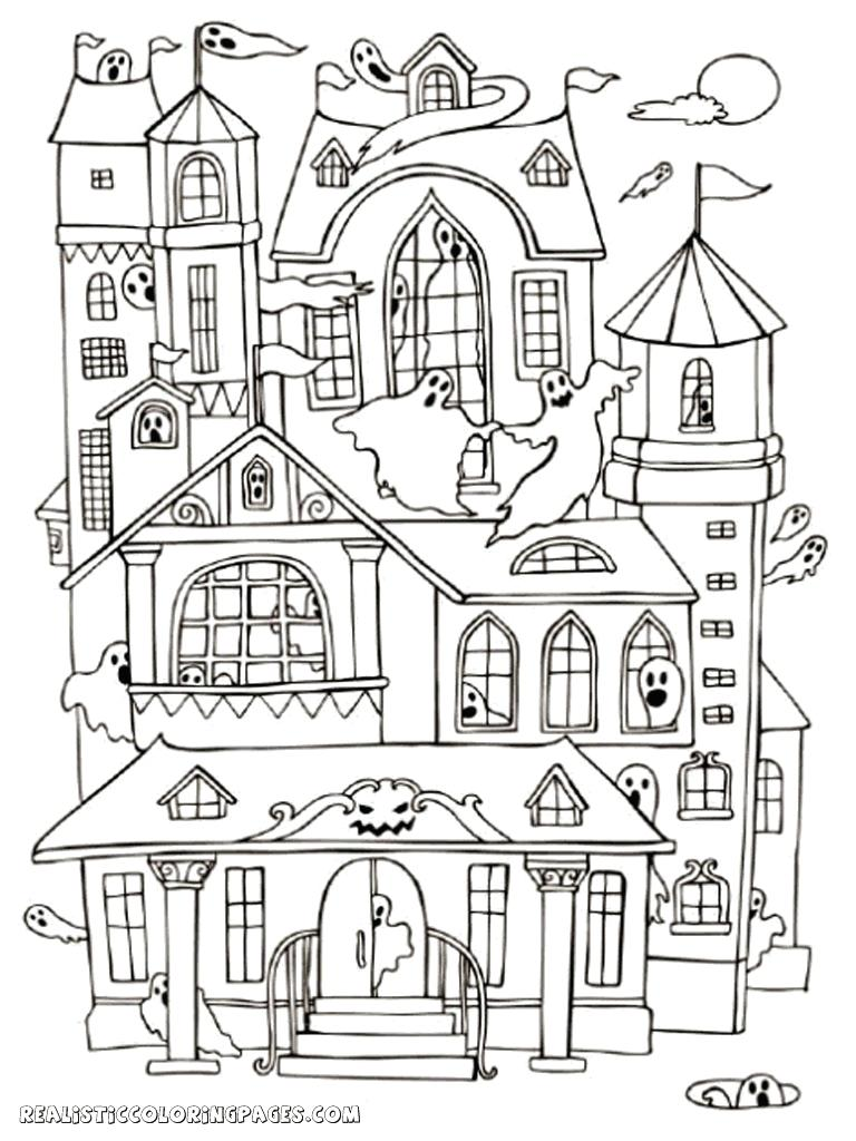 768x1024 Special Coloring Pages Of Haunted Houses House