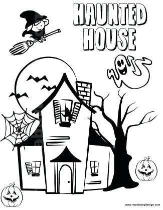 325x420 Haunted House Coloring Pages For Kids Vanda