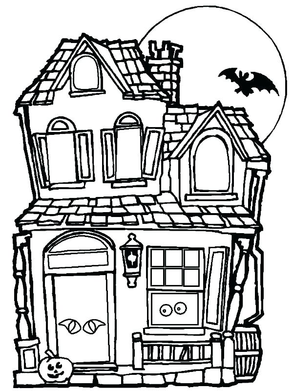 600x800 Full House Coloring Pages Full House Coloring Pages Haunted House