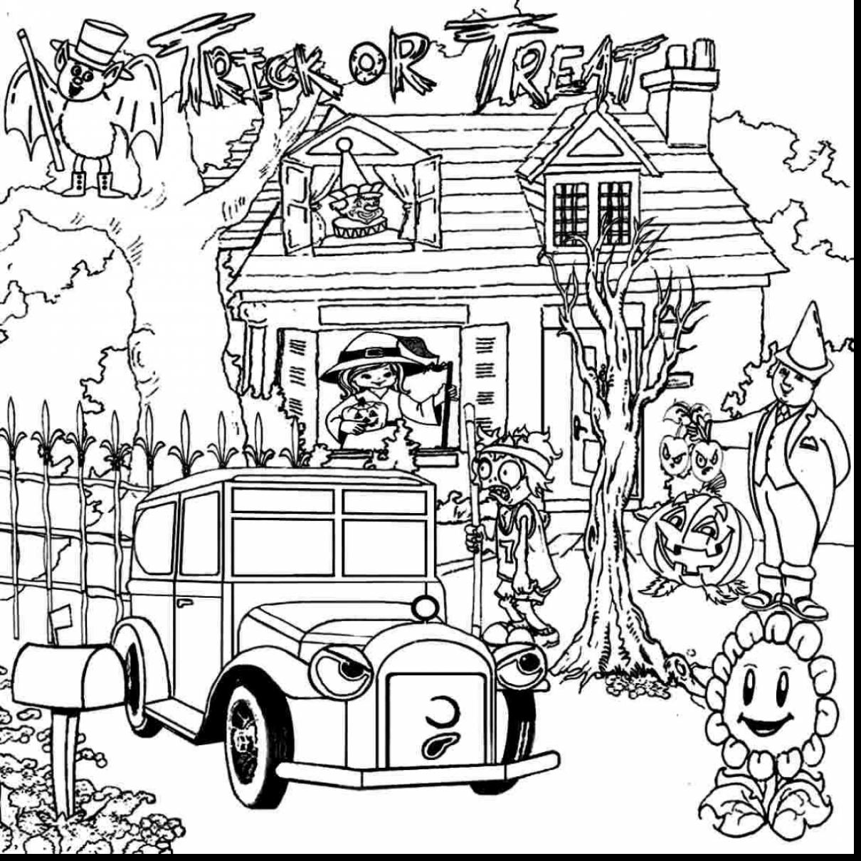 1210x1210 Competitive Coloring Pages Of Haunted Houses H