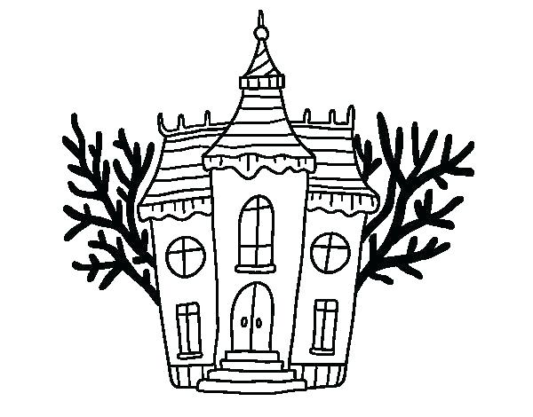 600x470 Fresh Design Home Coloring Pages Com Brilliant Haunted House