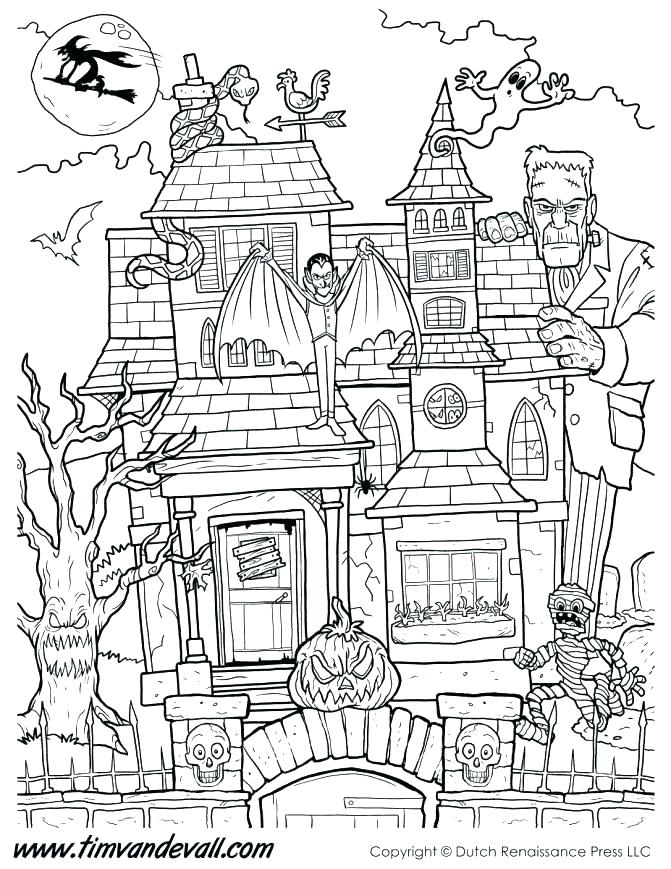 671x869 Haunted Mansion Coloring Pages Haunted House Coloring Pages