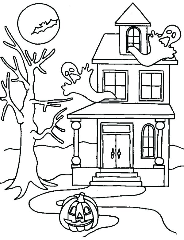 600x780 Haunted Mansion Coloring Pages Haunted House Coloring Pictures X