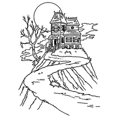 230x230 Top Free Printable Haunted House Coloring Pages Online