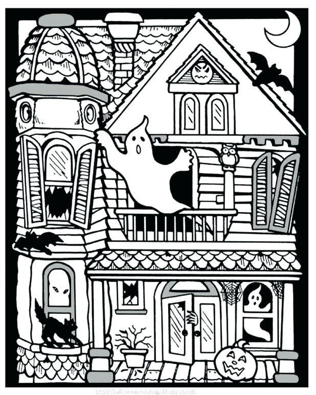 618x773 Haunted Mansion Coloring Pages