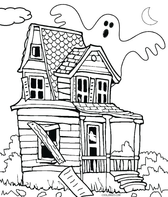 556x652 Coloring Pages House Haunted Castle Coloring Pages Photos