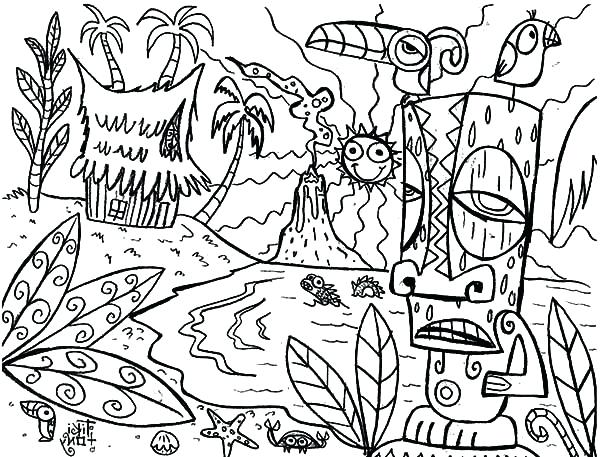 600x457 Hawaii Coloring Pages Amusing Coloring Pages For Your Picture