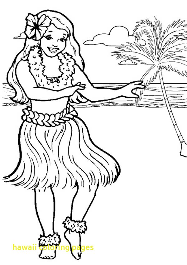 600x850 Hawaii Coloring Pages With Hawaiian Hula Dancer Coloring Page