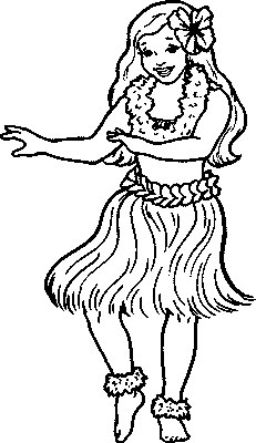 231x400 Hawaii Dancer Kids Coloring Pages Gtgt Disney Coloring Pages