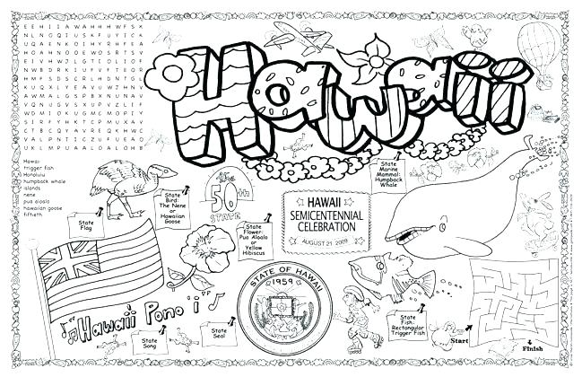 649x420 Hawaiian Coloring Pages Printable Coloring Pages Coloring Home