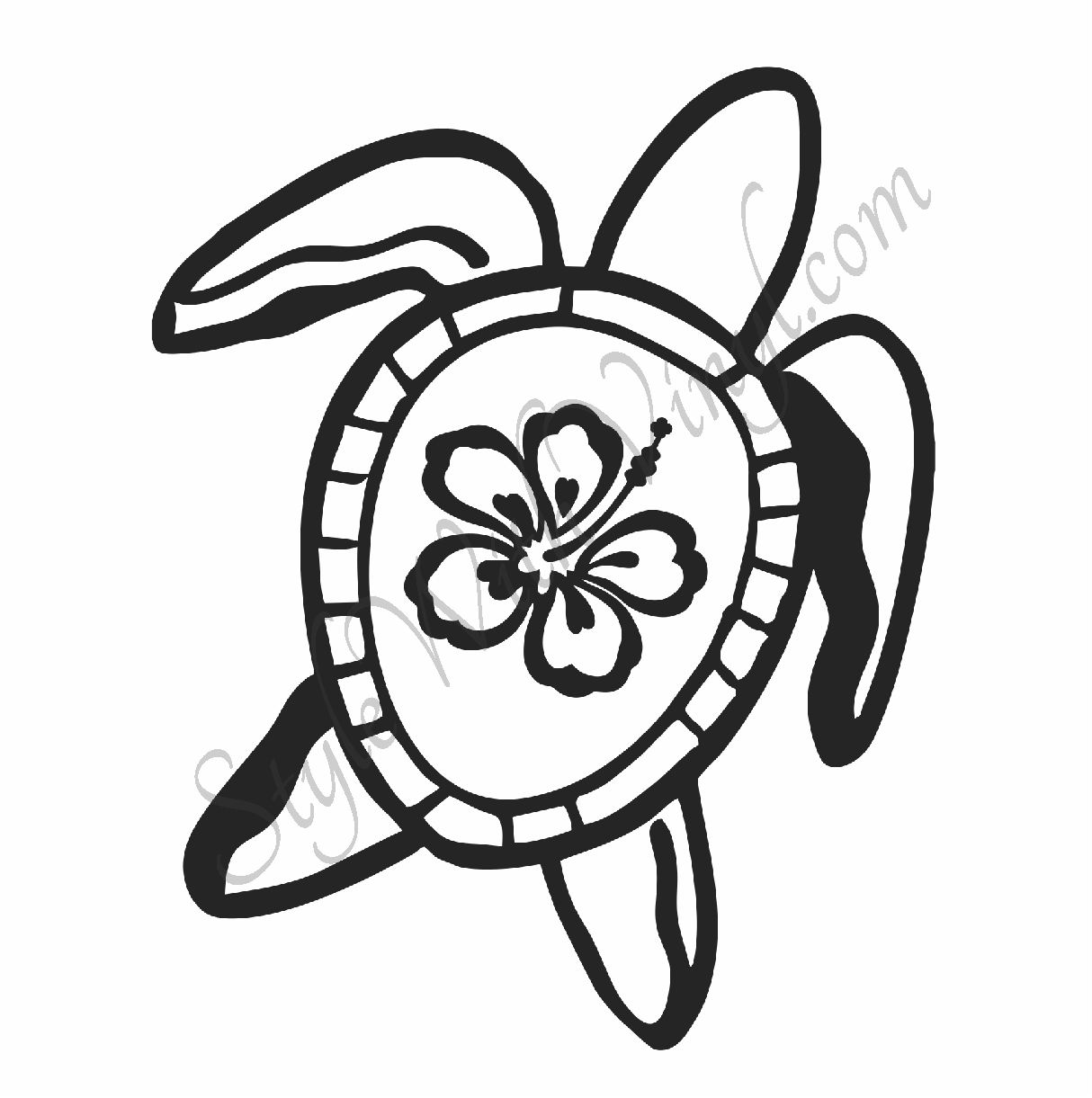 1214x1221 Hawaiian Flower Coloring Pages