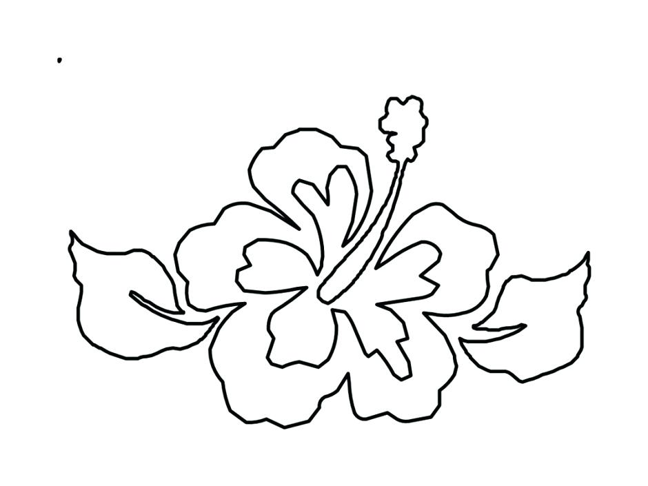 940x705 Hawaiian Flower Coloring Pages Hibiscus Tropical On Drawing Sheets