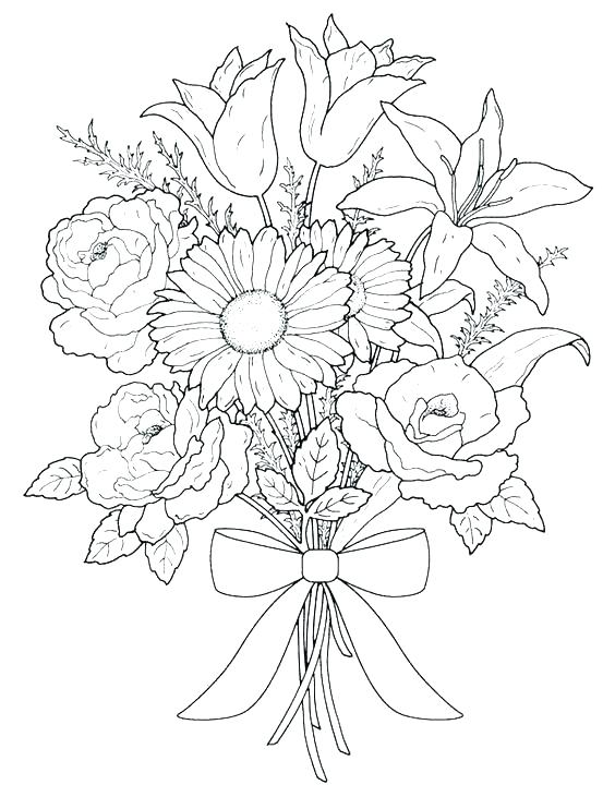 564x720 Flowers Coloring Pages Printable Free Coloring Pages Of Flowers