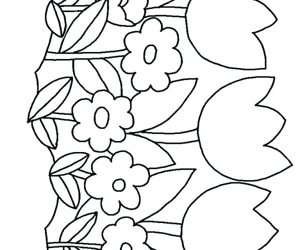 600x500 Free Printable Flowers To Color Hawaiian Flower Coloring Pages