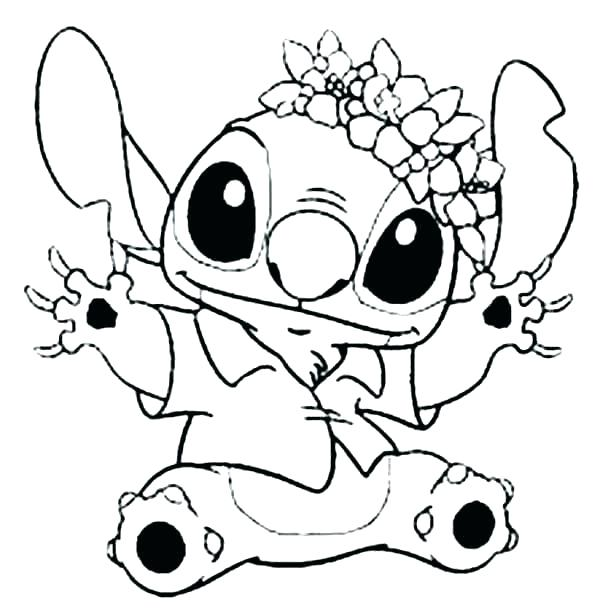 600x608 Flower Coloring Pages