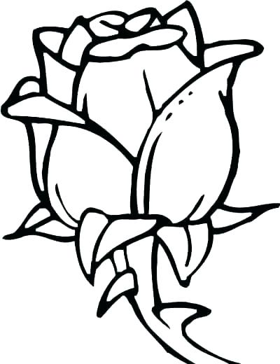 400x520 Easy Flower Coloring Pages Easy Flower Coloring Pages Flowers