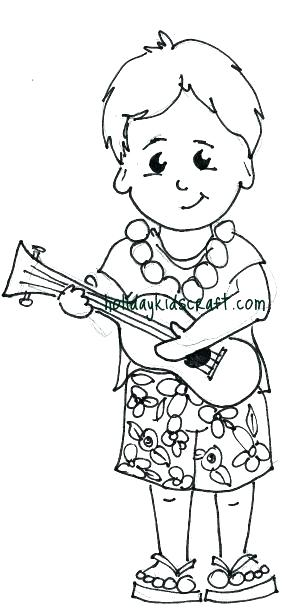 300x615 Hawaiian Coloring Pages Flower Coloring Pages For Kids Hawaiian