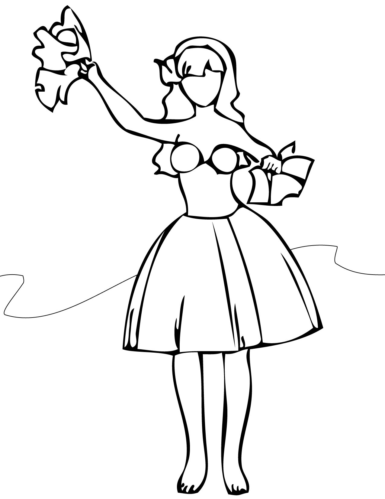 1275x1650 Unparalleled Hula Girl Coloring Page Last Chance Cool Design Ideas