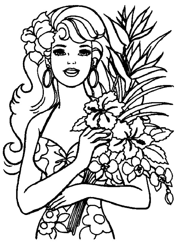 600x834 Hawaiian Girl Coloring Pages Pict