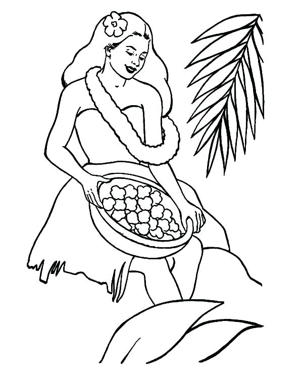 600x734 Hawaii Coloring Coloring Pages Girl Coloring Pages Free Girl