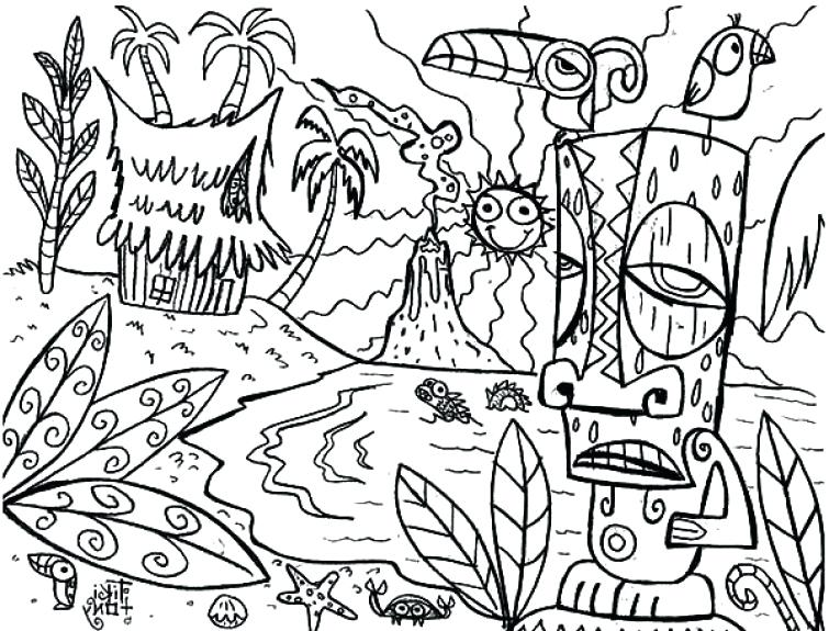 Free Printable Hawaii Coloring Pages And Related Links | 575x755