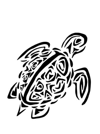 Hawaiian Turtle Coloring Pages