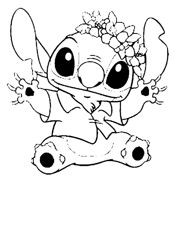 600x800 Stitch In Hawaiian Outfit In Lilo Stitch Coloring Page