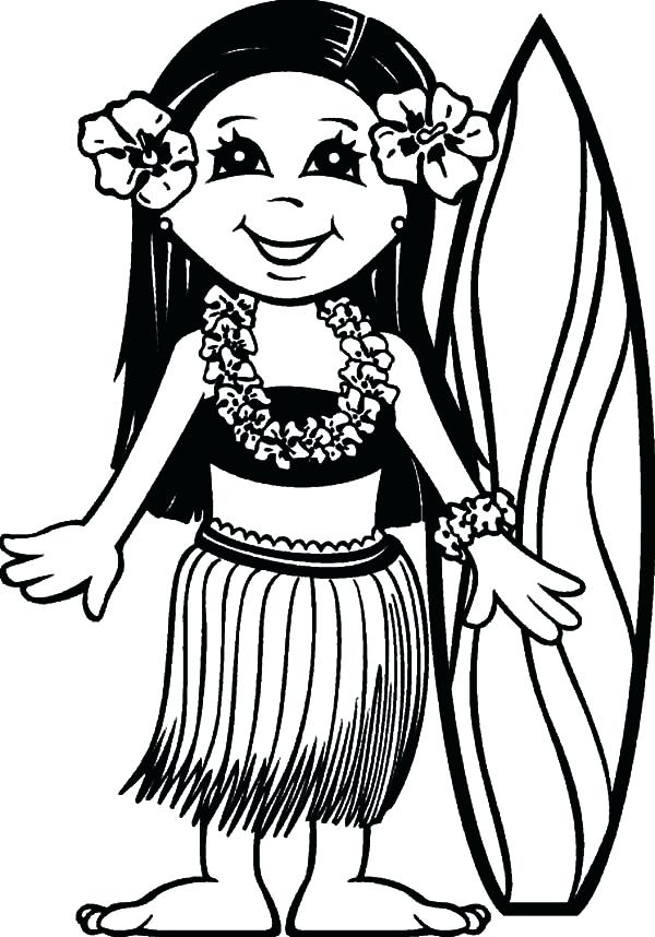 600x858 Hawaii Coloring Pages Surfer Girl Coloring Pages Surfer Girl