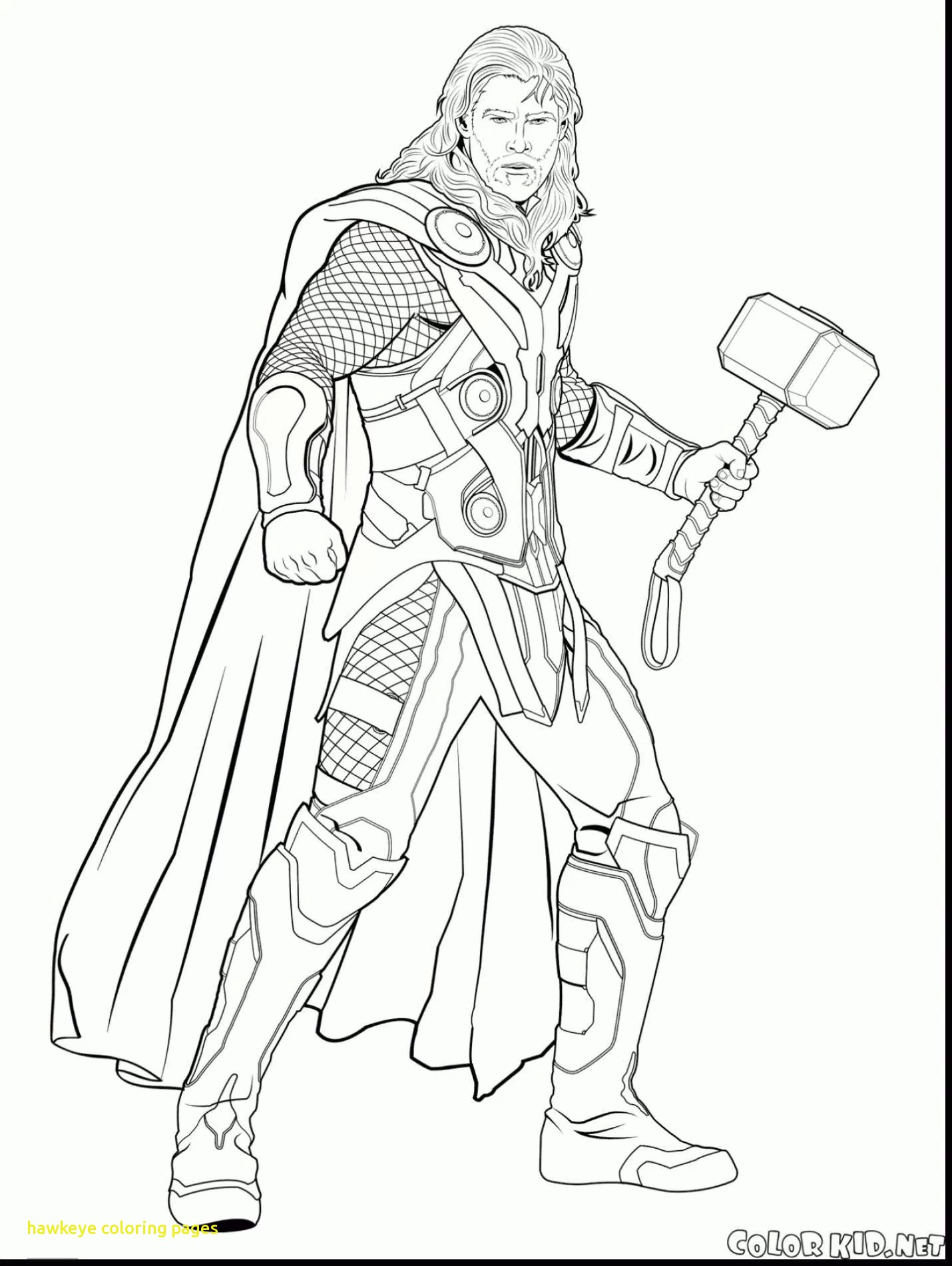 Hawkeye Avengers Coloring Pages At Getdrawings Com Free