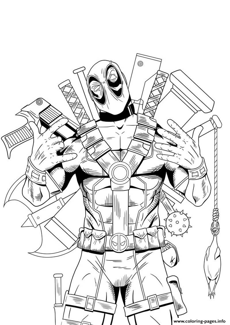 800x1131 Deadpool Hight Quality Hd Coloring Pages Printable