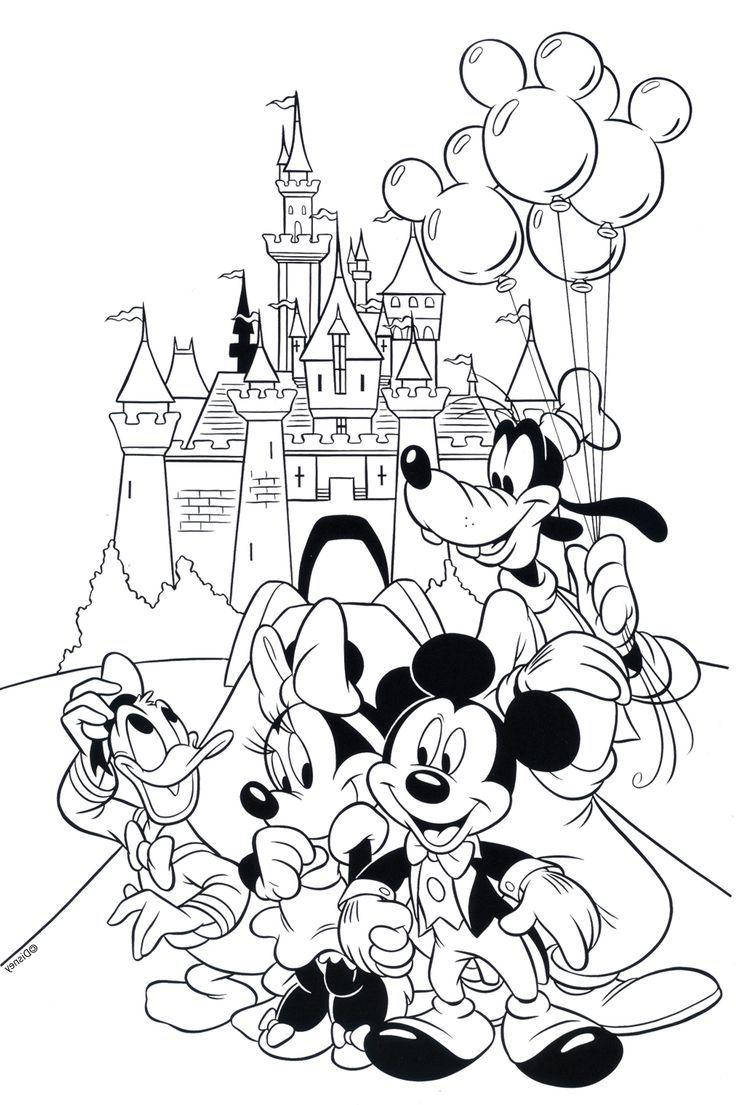 736x1105 Hd Free Disney Coloring Pages Printables Disneyland Library