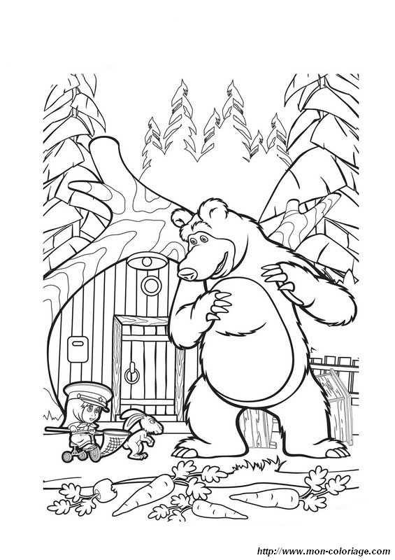 565x800 Masha And The Bear Cartoon Coloring Page Wallpaper Hd Proyek